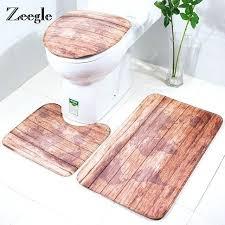 bath mat sets set bathroom wood pattern anti slip rug soft 2 piece argos