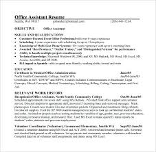 Office Assistant Duties On Resume Functional Resume For An Office Fascinating Office Assistant Duties On Resume