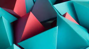 2560x1440 3D Triangle Cube 1440P ...