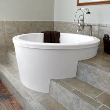 bathtub design kohler cast iron freestanding tub nice and beautiful round anese soaking with adorable cream
