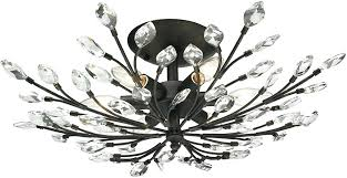 semi flush mount crystal chandeliers elk 6 crystal branches burnt bronze flush mount lighting within light semi flush mount crystal chandeliers