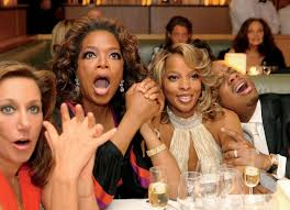 donna karan oprah winfrey mary j blige and kendu isaacs at dinner watching jennifer hudson