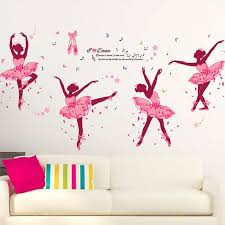 diy ballet fille amovible wall decal famille accueil autocollant mural art home decor dr271