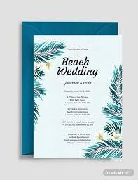 Beach Invitation 16 Beach Wedding Invitations Psd Vector Eps Ai