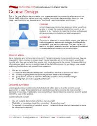 Designing Learning Activities Course Design And Redesign