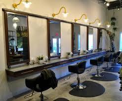 beauty salon lighting. \u201cThe Lighting Is So Important In A Salon. It Can\u0027t Be Overbearing,\u201d He Says. \u201cI Chose Gooseneck Barn Lights To Give The Space An Industrial Modern Feeling. Beauty Salon