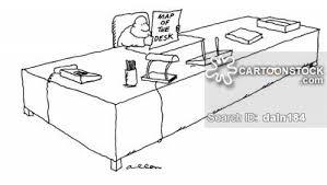 huge desk. Man At Huge Desk With A Map Entitled, \u0027Map Of The Desk\u0027. K