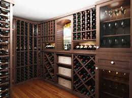 wine room showing vigilant kit and custom spacer arched table top wine cellar furniture