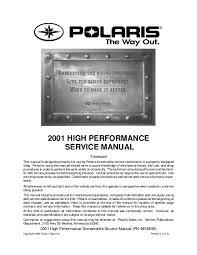 Polaris Snowmobile Belt Chart 2001 Polaris Indy 600 Xc Sp Snowmobile Service Repair Manual