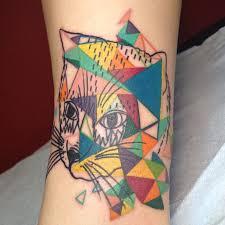 Colourful Triangle Cat Best Tattoo Design Ideas Cat Tattoo Cool Download Best Tattoo Pictures