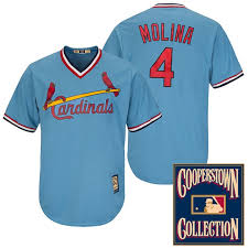 St Louis Star Cardinals Base Cool Jersey 2013 Molina Orange Yadier All