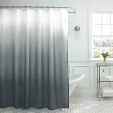 dark teal shower curtain. creative home ideas ombre textured shower curtain with beaded rings, dark grey teal