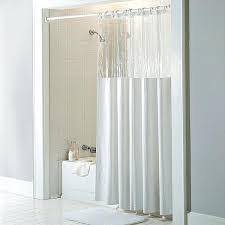 vinyl shower curtains antibacterial and antimicrobial mildew resistant see through top clear white vinyl shower curtain free on orders over vinyl