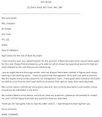 Assistant Cover Letter Sample Bank Assistant Cover Letter Example Learnist Org