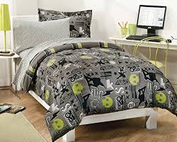 Amazon.com: My Room Extreme Skateboarding Boys Comforter Set With ... & My Room Extreme Skateboarding Boys Comforter Set With 180Tc Sheets, Gray,  Twin Adamdwight.com