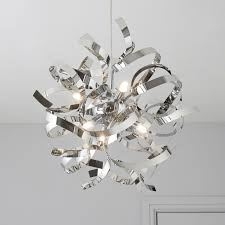 Heka Curled Chrome Effect 6 Lamp Pendant Ceiling Light | Departments | DIY  at B&Q