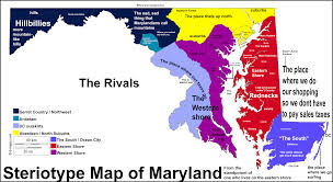 Maryland Stereotype Map Maryland Stereotype