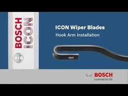 Bosch Icon Wiper Blade Chart Bosch Icon Hook Arm Wiper Blade Installation Youtube