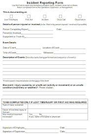 Incident Report Form Template Luxury Free Printable Incident Report