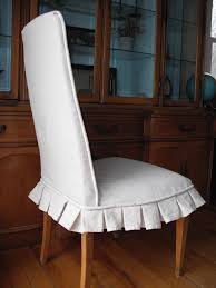 nice white dining chair slipcovers for modern dining room decor