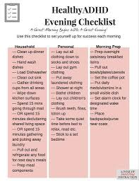 Adhd Morning Routine Chart Pin On Attention Deficit