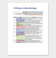 Sales Meeting Topic Sales Meeting Agenda Template 10 For Word Pdf Format