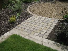 Small Picture Stone setts path from part of a front garden design by Sue Davis