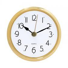 2 1 2 white clock insert with gold bezel
