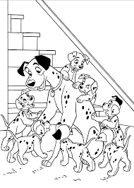 magic 101 dalmatians coloring pages to print with daddy for kids printable free