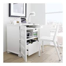incognito white compact office space for printer file drawer keyboard and it all