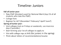 getting ready to be juniors night class of responsibilities  5 timeline