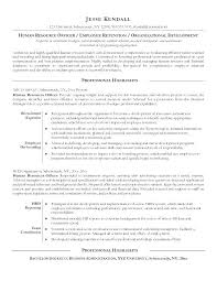 College Recruiter Sample Resume Classy Sample Resume For Human Resources Hr Officer Example Free Recruiter