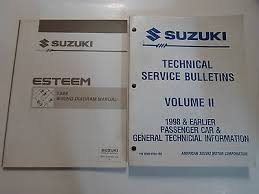 1995 suzuki esteem owners manual • 7 99 picclick 1995 suzuki esteem wiring diagram manual w tsb vol ii 2 volume set factory oem