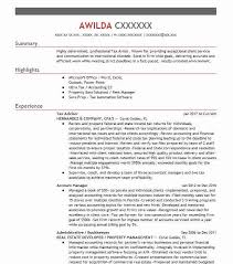 Tax Clerk Sample Resume Interesting Tax Advisor Resume Sample Advisor Resumes LiveCareer