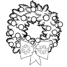 plain christmas wreath coloring page.  Christmas Christmas Decorations Coloring Pages To Plain Wreath Page