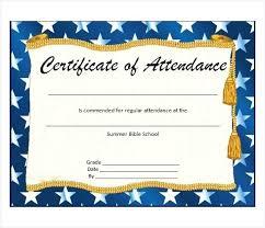 Attendance Award Template Perfect Attendance Award Template Digitalhustle Co