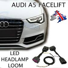 audi a5 8t a4 8k facelift halogen to bi xenon headlight adapter image is loading audi a5 8t a4 8k facelift halogen to