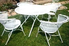 vintage iron patio furniture. Singular Patio Ideas Vintage Metal Table Wrought Iron Set In Diameter Photo . Furniture