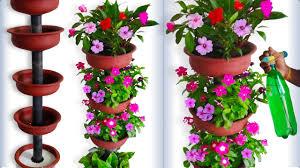 beautiful flower garden tower using