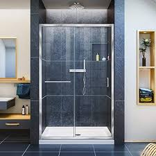 stylish glass bathroom door com dream line infinity z 44 48 in w x 72 h semi frameless sliding shower clear chrome d r 0948720 01 interior that fog