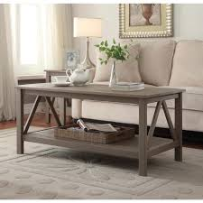 linon home decor titian driftwood coffee table