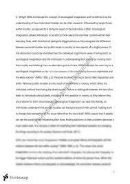 sociological imagination essay soca sociology of religion  sociological imagination essay