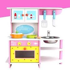 Cuisiniare Cuisine Bois Rose Jouet Enfant Dinette Marchande Janod En