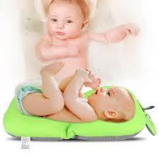 giá foldable non slip cute frog baby bath mat soft bathing cushion bathtub 1