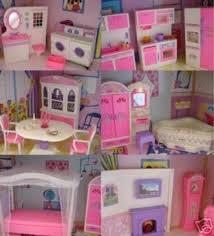 barbie furniture dollhouse. New Barbie Size Doll House Dollhouse Furniture 5 Rooms 111 PC Lights And Sounds | EBay