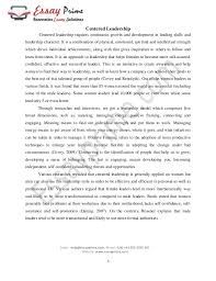 example of leadership essay leadership essay example of leadership