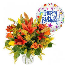 simply birthday wishes bouquet