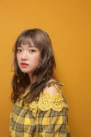 韓国現地ヘアスタイル韓国女性人気ヘアスタイル ラベンダーカラー