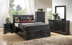 stunning black bedroom furniture sets complete with storage bed and 2 nighstands bedroom black bedroom furniture sets