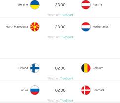 ตารางบอลยูโร 2020 วันจันทร์ที่ 21 มิ.ย. 64 โปรแกรมถ่ายทอดสด EURO 2020